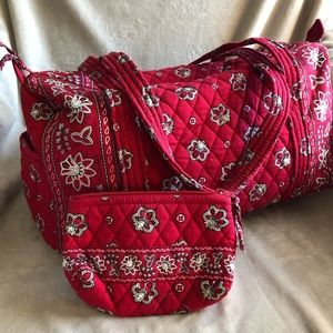 Vera Bradley Small Duffel & Cosmetic Bag